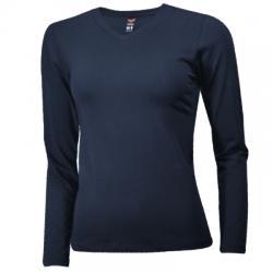 Barcin Basics  V Yaka Uzun Kollu Bayan Tişört
