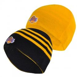 Los Angeles Lakers Reversible Knit Çift Taraflı Bere