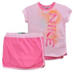 Action Knit Set 2 Çocuk Tişört-Şort Takım