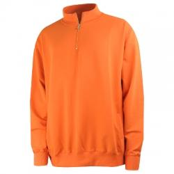 Barcin Basics Erkek Yarım Fermuarlı Büyük Beden Sweatshirt
