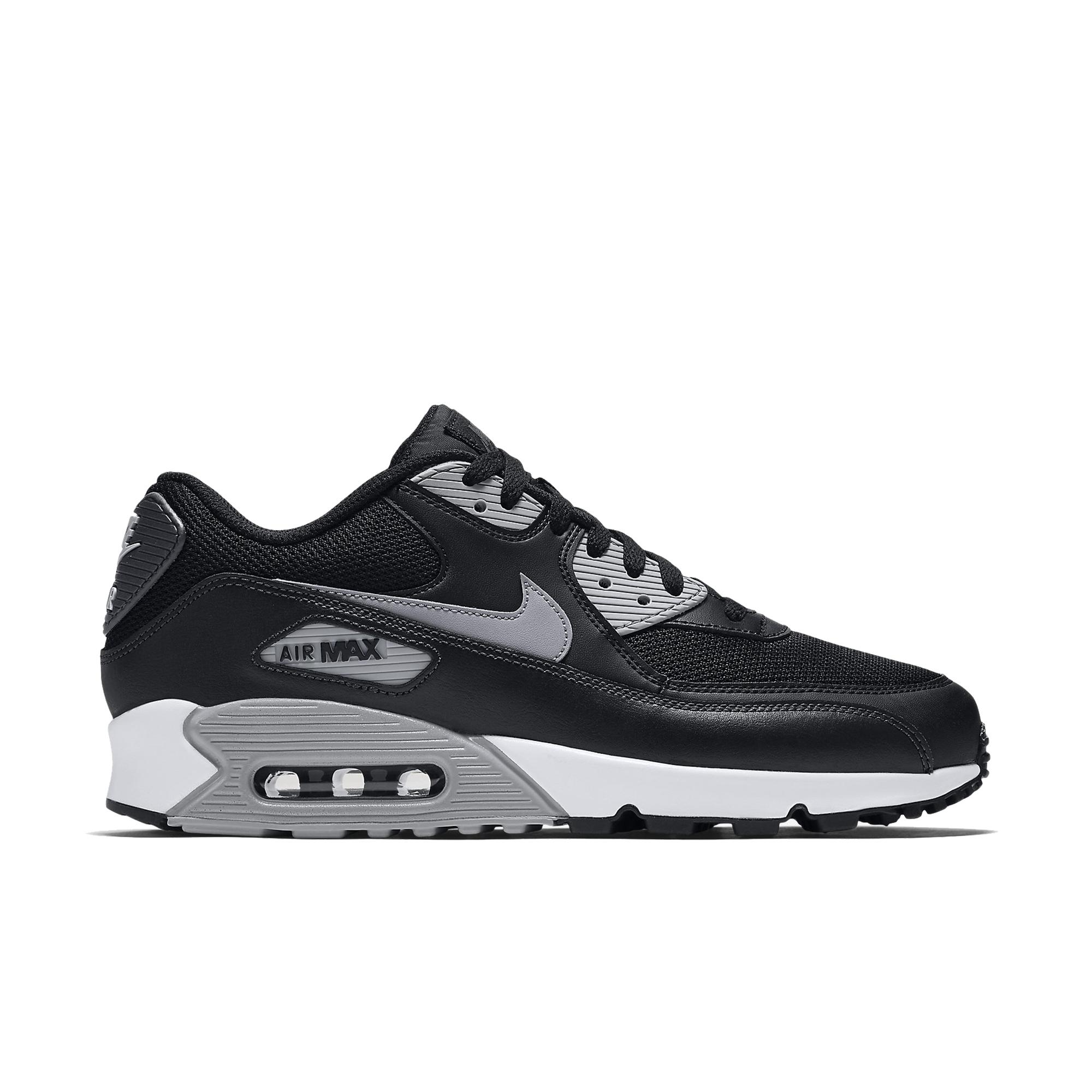 nike air max 90 essential trainers in nero and red