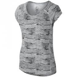 Nike Printed Miler Ss V-neck Tişört
