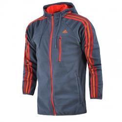adidas Pf Faster Stripe Kapüşonlu Erkek Ceket