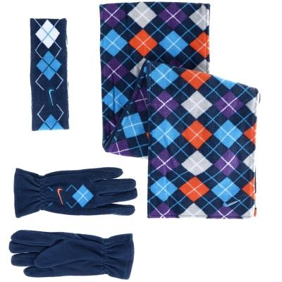 Nike Argyle Fleece CO Atkı Eldiven Set